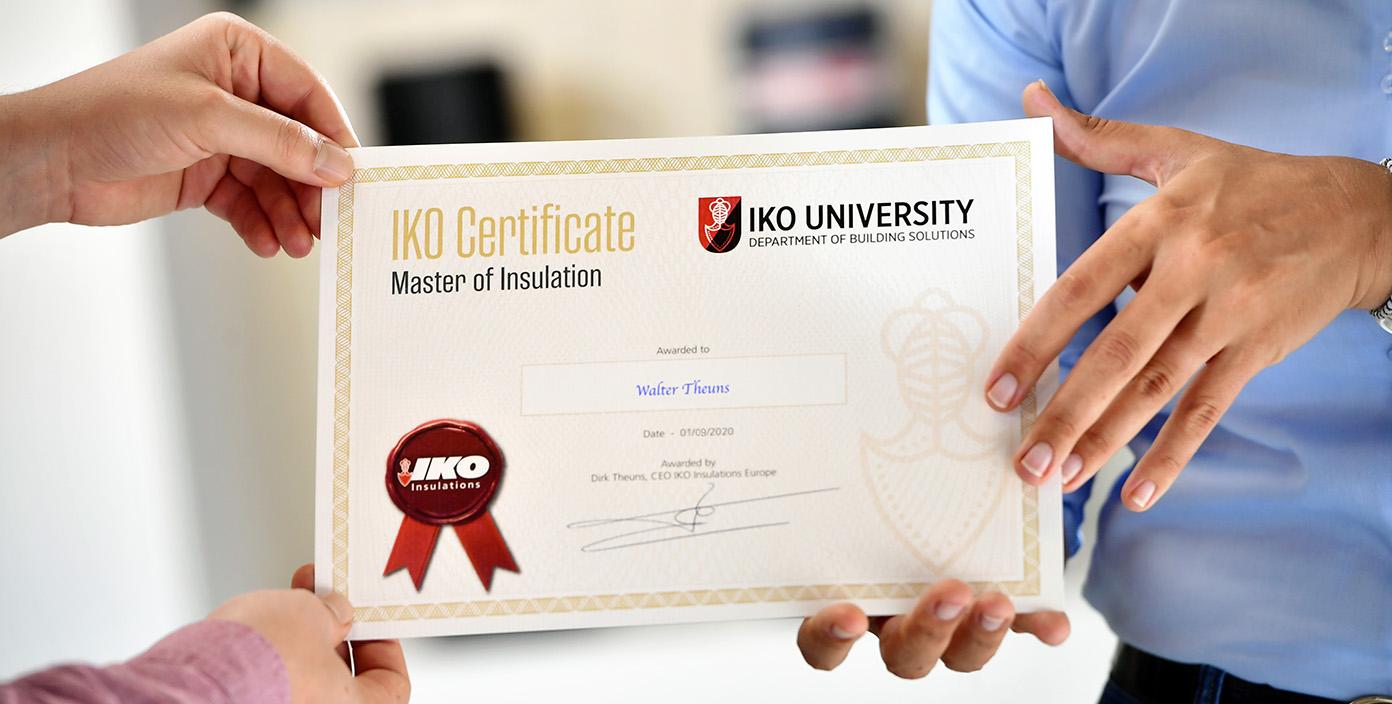 Ontvangst opleidingscertificaat